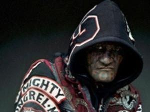 Mongrel mob murder accused in photo exhibit. (Source: Seven Sharp)