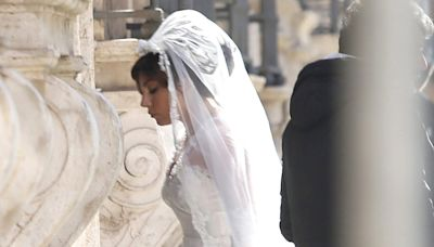 Lady Gaga Films Wedding Scene for House of Gucci Movie – See the Dress!