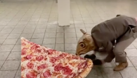 Actor goes viral for dressing up as life-sized 'pizza rat' in New York City