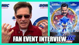Jim Carrey talks SONIC THE HEDGEHOG - Fan Event Interview