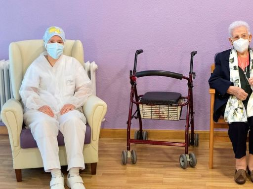 Spain's elderly get second COVID-19 shot as infection rates soar