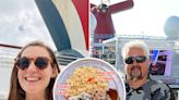 I tried Guy Fieri's barbecue on a cruise in the middle of the ocean, and even as a non-meat eater, it lived up to the hype