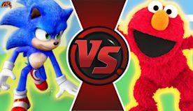 SONIC vs ELMO! (Sonic The Hedgehog Movie Animation) Sonic Cartoon Fight!