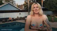 Ireland Baldwin wears voting stickers as pasties in topless Instagram