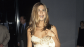 Great Outfits in Fashion History: Jennifer Aniston's Peak '90s Floral-Print Satin Dress