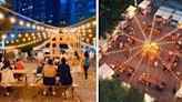 暖黃燈光點亮排排木質攤位 高質感文青風夜市進駐台中