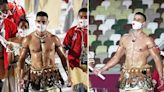 Oiled-Up 'Hot Tongan' Flag Bearer Pita Taufatofua Steals The Show At 2021 Tokyo Olympics Opening Ceremony — Photos