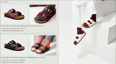 中英對照讀新聞》Birkenstock sandals made from actual Hermes Birkin bags 用真的愛瑪仕柏金包製作的勃肯涼鞋