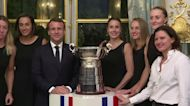 Macron welcomes France's Fed Cup champs to the Elysee Palace