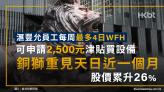 滙豐允員工每周最多4日WFH|銅獅重見天日近一個月 股價累升26%