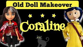 Making CORALINE DOLL / Ever After High Doll Repaint by Poppen Atelier