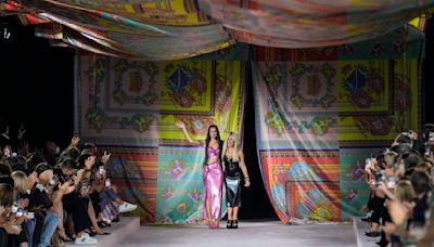 Dua Lipa Makes Runway Debut With Versace During Milan Fashion Week