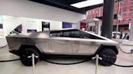Tesla's Cybertruck on display in NY