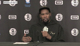 Kevin Durant addresses Kyrie Irving not getting vaccinated and not playing   Nets Post Game