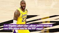 LeBron James receives one MVP vote; Nikola Jokic wins award