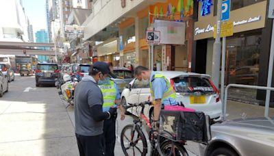警港島打擊電動車拘3人 其中1人為外賣速遞員