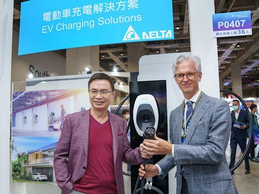 台達電秀肌肉 展出儲能、太陽能與電動車充電解決方案
