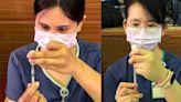 花慈護理師細心的眼神 看見疫苗施打專業精神