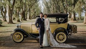 The Bride Wore a Velvet Veil and Rode in a Carriage for Her Wedding in Argentina