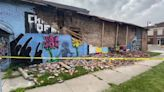 George Floyd mural in Ohio collapses after being 'struck by lightning'