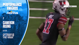 Utah football's Cameron Rising named Pac-12 Offensive Player of the Week, presented by Nextiva, for second straight week
