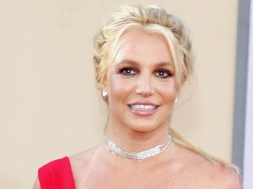 Britney Spears Goes Upside Down in a Tube Top, Shorts & Red-Hot Adidas