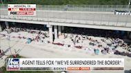 FOX Flight Team footage shows massive groups of migrants under Texas bridge