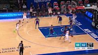 Julius Randle with a 2-pointer vs the Charlotte Hornets