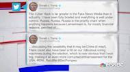 Trump tweet downplays Russia hack, implicates China