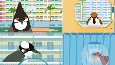 本地藝術家入學校教畫明信片 設計學生畫公屋雀仔介紹香港 | 立場報道 | 立場新聞
