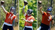 Bears' QB Justin Fields is behind Andy Dalton, but ahead of Nick Foles