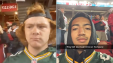 Packers fans in San Francisco go viral re-creating famous image as Green Bay stunned 49ers
