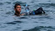 WATCH: One young migrant swims to Spain from Morocco