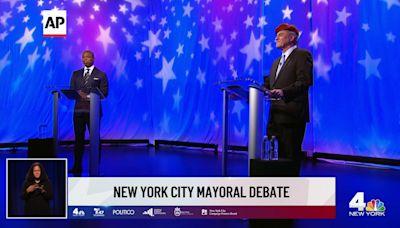 Adams, Sliwa spar in 1st NYC mayoral debate