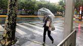 Typhoon dumps rain on Shanghai, leaves roads waterlogged