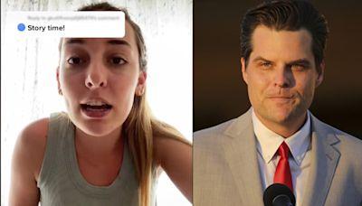 Matt Gaetz's Future Sister-in-Law Says He's a Gaslighting 'Creep'