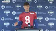Giants' Daniel Jones on 'struggling' Chiefs, development of OL Matt Peart   Giants News Conference
