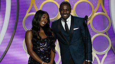Watch Idris Elba's proud dad moment as daughter Isan Elba makes Golden Globes debut
