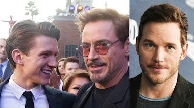 Robert Downey Jr. appears to have edited Tom Holland out of the Instagram post that he used to defend Chris Pratt