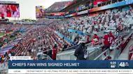 Chiefs fan wins signed helmet