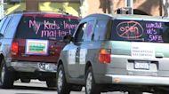 Reopening schools: LA teachers union holds car caravan protest