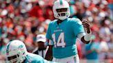 Dolphins' Jacoby Brissett battling hamstring injury vs. Tom Brady, Buccaneers in Week 5 matchup