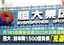【恒大股價】恒大斥資183億提前償還2023年到期債券 股價升逾半成 - 香港經濟日報 - 即時新聞頻道 - 即市財經 - 當炒股
