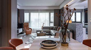四房改兩房住起來更寬敞!35 坪現代風居宅迎接安穩退休生活