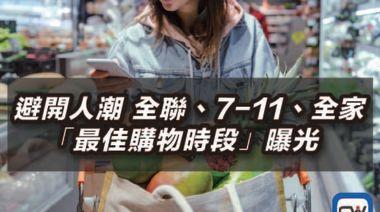 避開人潮 全聯、7-11、全家「最佳購物時段」曝光