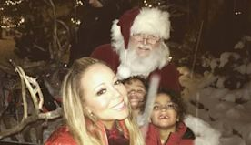 Mariah Carey's Twins Get a Magical Visit From Santa Claus on Christmas Eve—Complete With Reindeer! - E! Online