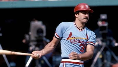 Keith Hernandez being inducted into Cardinals Hall of Fame