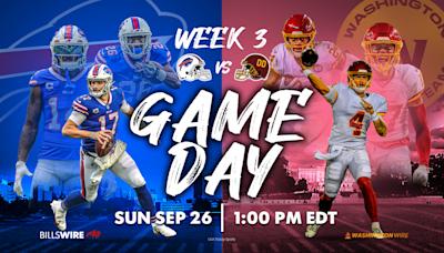 Bills vs. Washington Football Team: How to watch, listen and stream