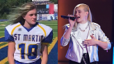 Teen girl linebacker scores a touchdown on 'The Voice': 'You kind of sing like you play football'