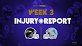Ravens release first injury report ahead of Week 3 matchup vs. Lions
